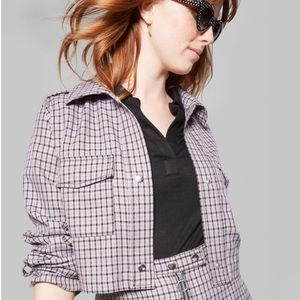 Wild Fable Checked Crop Jacket